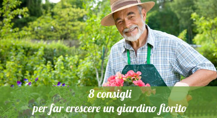 Giardino fiorito, 8 consigli per crescere le piante.