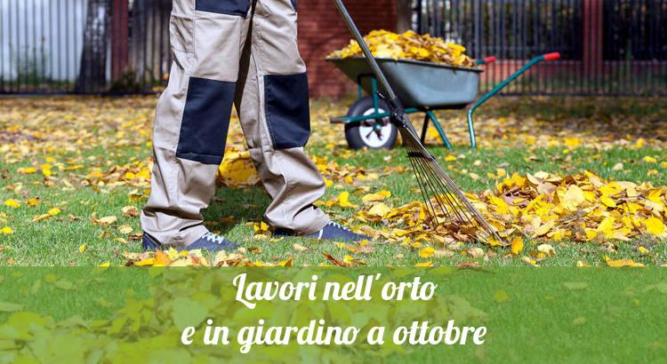 Cosa fare in orto e giardino a ottobre.